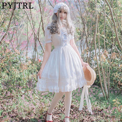 41c7aee7e8294 Quick View · PYJTRL Sweet Short Sleeve Lace Summer Party Big Swing Cosplay  Lolita Princess Dress ...