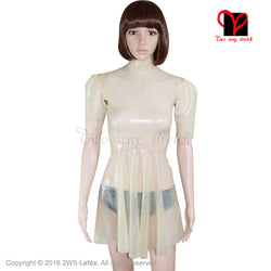 3b87edba61c95 Quick View · Sexy Swing Skater Latex Dress Puff short sleeves Maid Rubber  flare tail baby doll Playsuit Bodycon ...