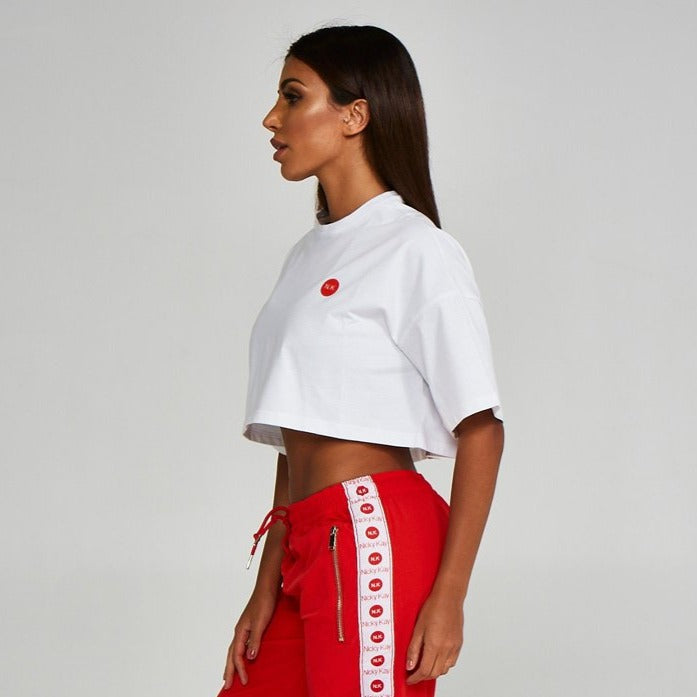 Cropped Tee Shirt White