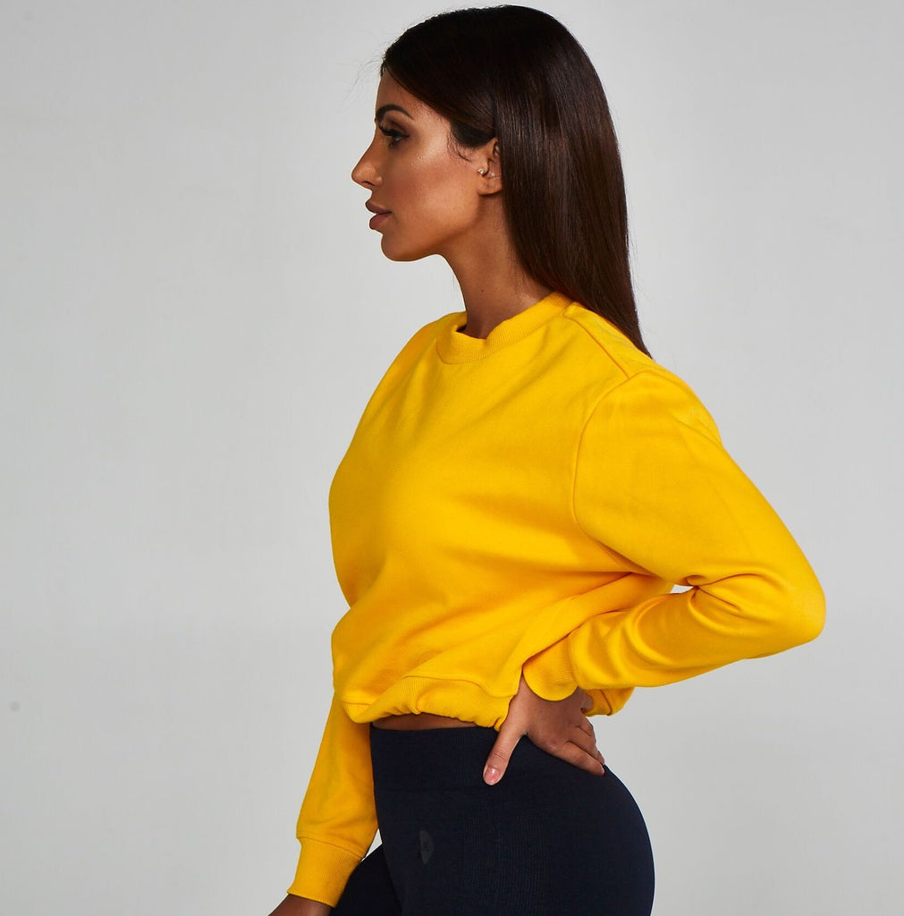 Adjustable Cropped Sweatshirt