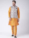 Multicoloured Blended Printed Kurta Sets