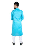 Light Blue Full Sleeves Cotton Kurta