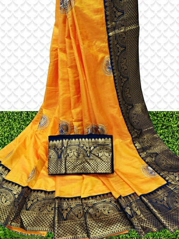 Sana Silk Saree Yellow