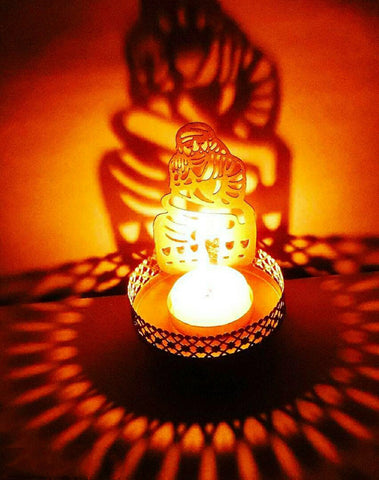 Sai Baba Shadow Tealight Candle Holder
