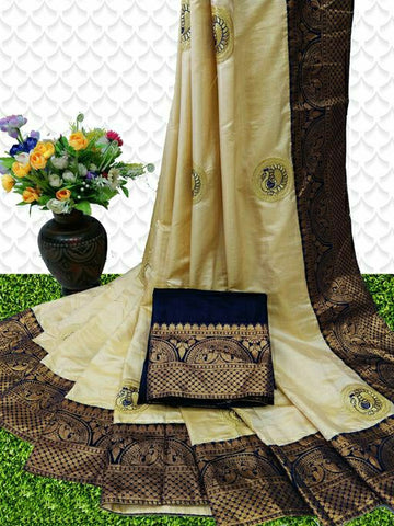 Sana Silk Saree Golden