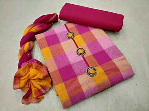 Hand Loom Cotton Dress Material