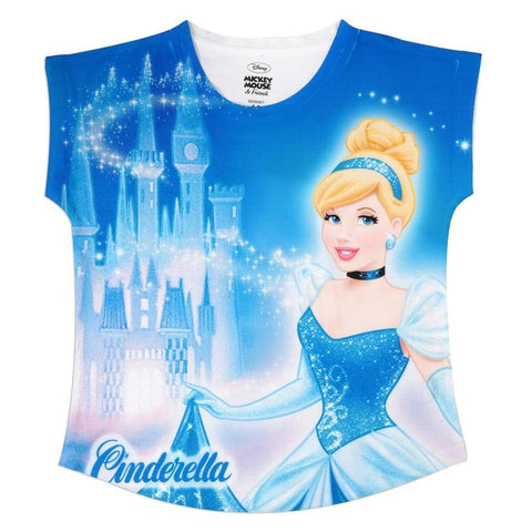 Disney Princess Cinderella and the Castle Print Top Girls