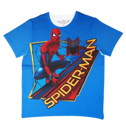 Marvel Spiderman Graphic Print T-shirt Boys