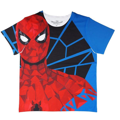 Marvel Spiderman Black Web Print T-shirt Boys