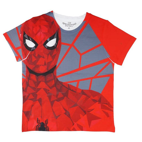 Marvel Spiderman Red Graphic Print T-shirt Boys