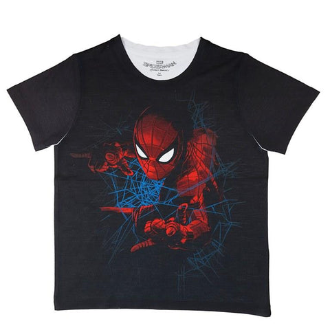 Marvel Spiderman & Web Graphic Print T-shirt Boys