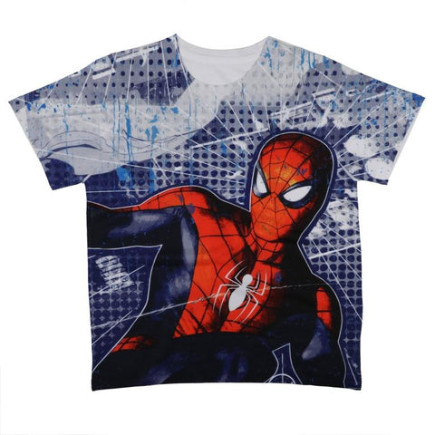 Marvel Spiderman Character Print T-shirt Boys