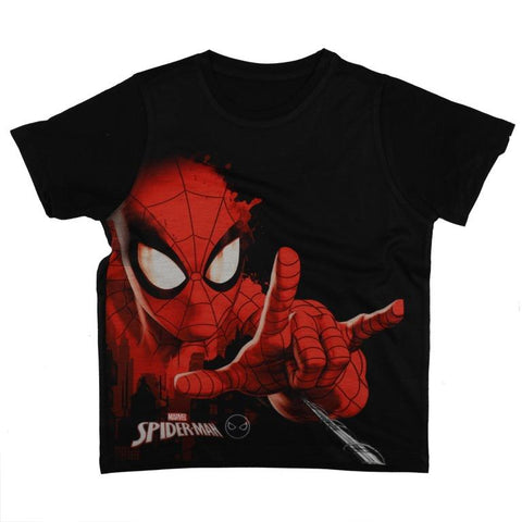 Marvel Spiderman Web Throw T-shirt Boys
