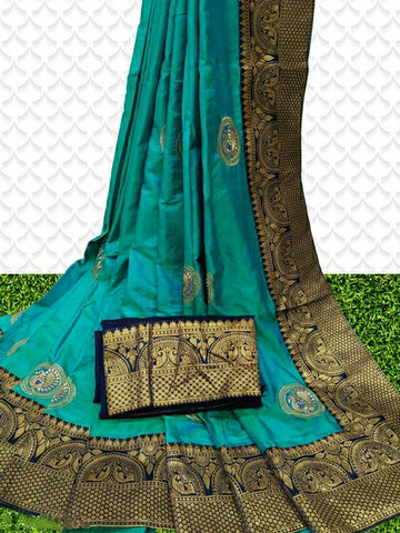 Sana Silk Saree Iris Blue