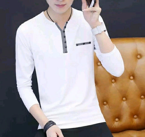 Men Stylish Cotton Solid T-Shirts