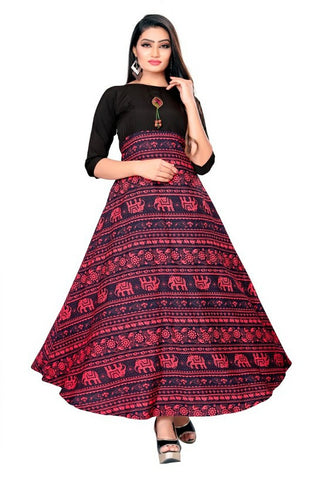 Printed Crepe Floor Length Anarkali Gown