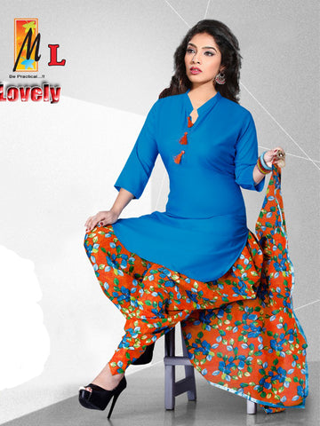 Apple Cut Kurti With Dhoti salwar and Dupatta