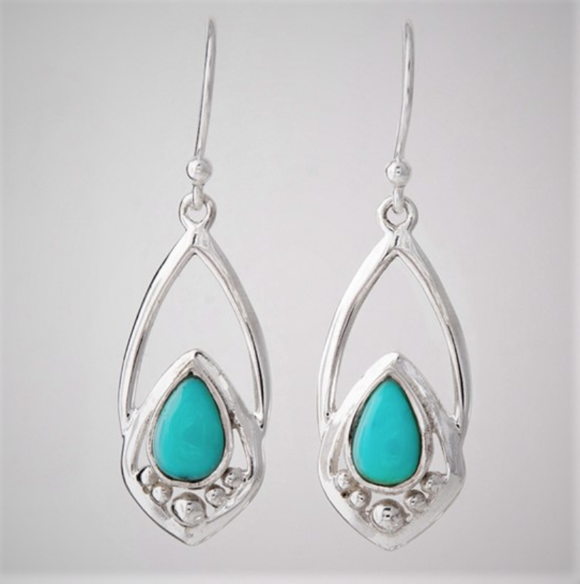 Turquoise Rain Drop Earrings