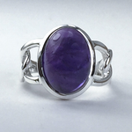 Amethyst Chain Links Ring