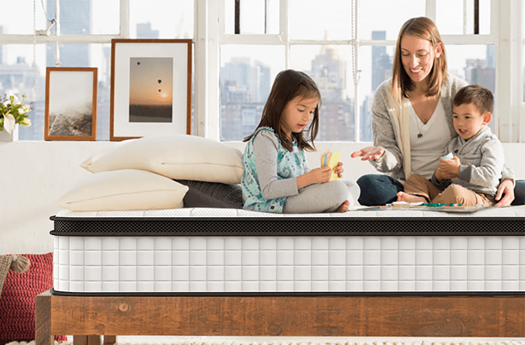 Inofia 10 Inch Queen Size Memory Foam and Spring Hybrid Mattress