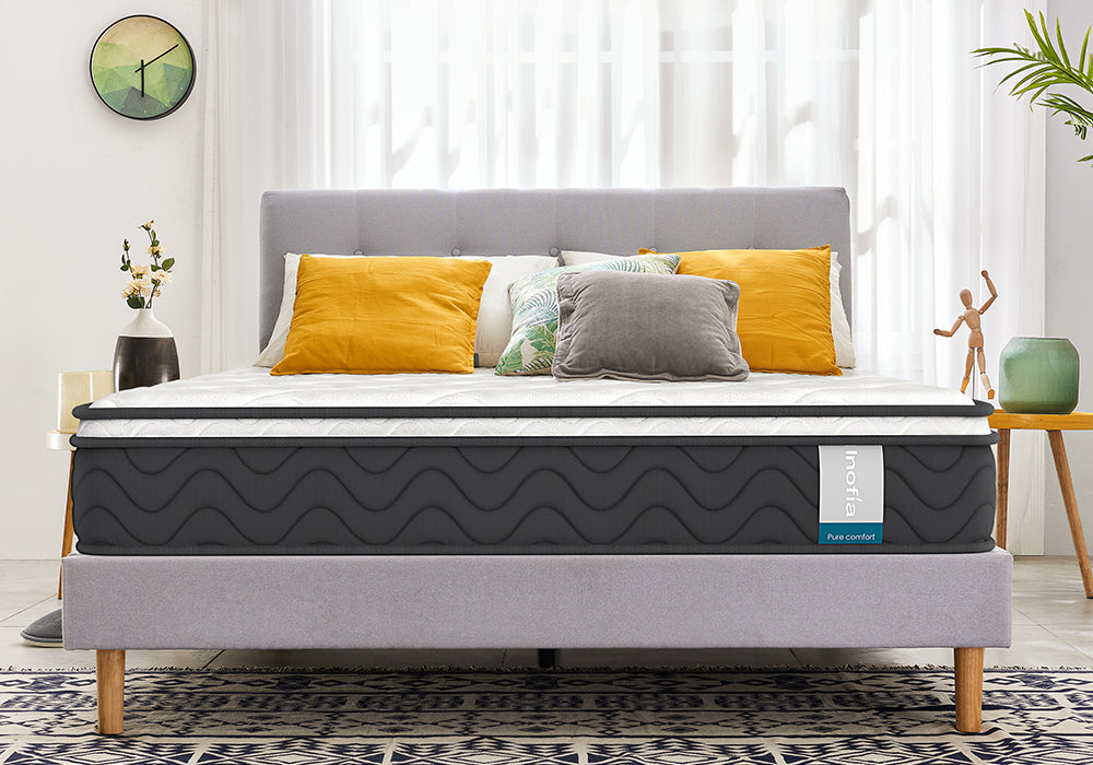 8 Inch Twin Mattress Inofia Hybrid Pocket Spring Foam Bed Mattress