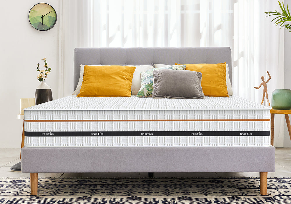 Inofia 10 Inch Hybrid Memory Foam and Innerspring Single Mattress in a Box