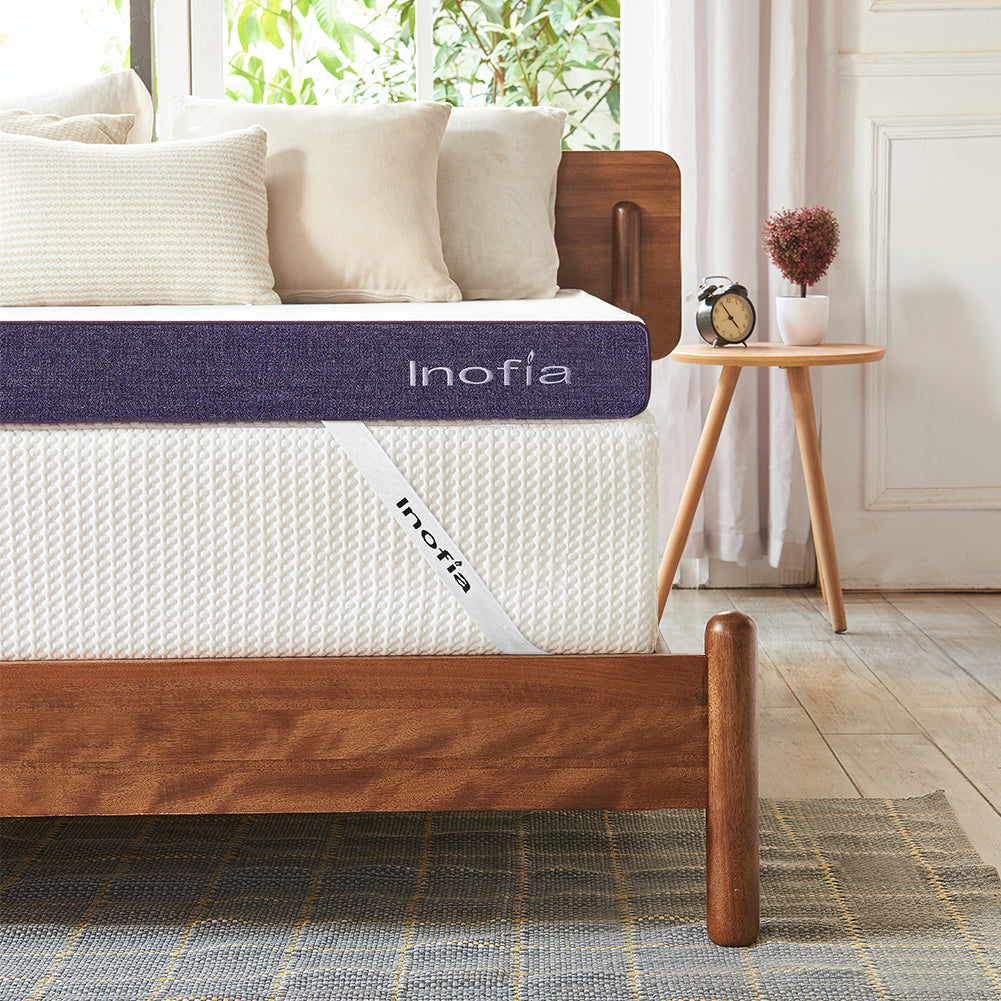 Inofia 3-inch Gel Memory Foam Mattress Topper with Washable Cover - inofia