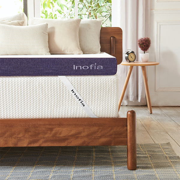 Inofia 3-inch Gel Memory Foam Mattress Topper with Washable Cover