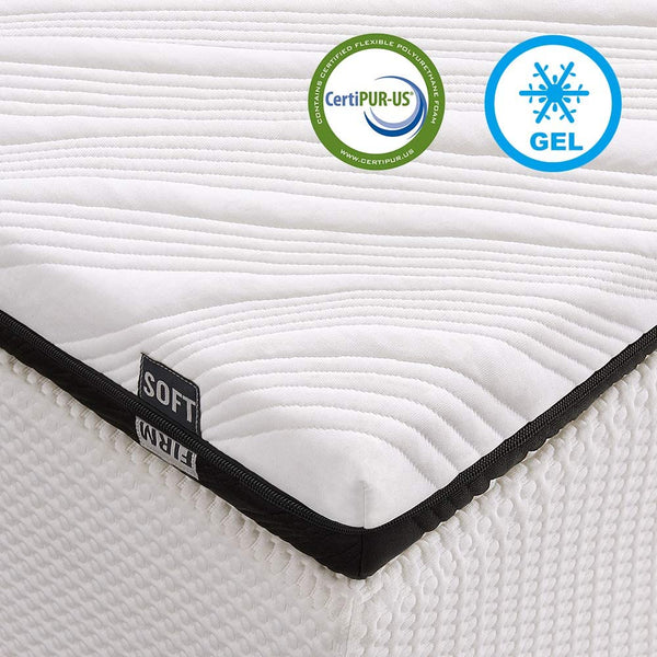 Inofia 3-Inch Gel-Infused Memory Foam Mattress Topper