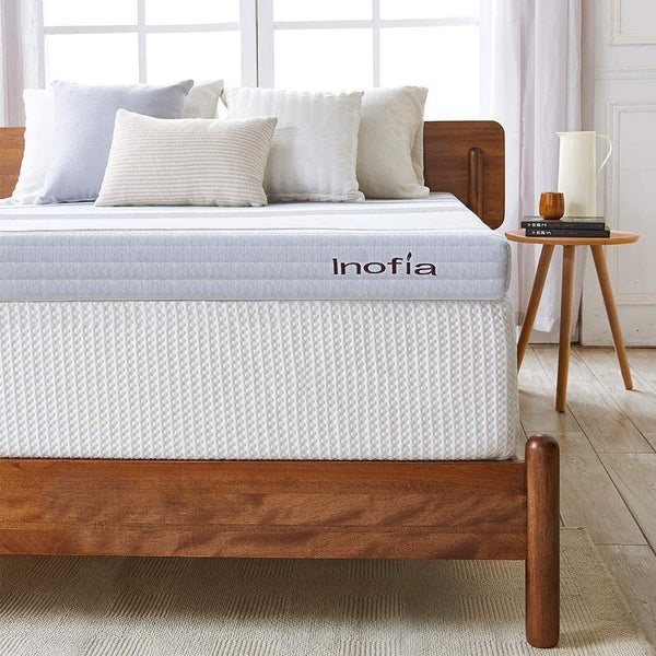 Inofia Mattress Topper 3 Inch Gel Infused Memory Foam Mattress