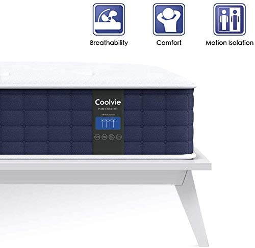 Coolvie 10 Inch Hybrid Innerspring Mattress in a Box - INOFIA US