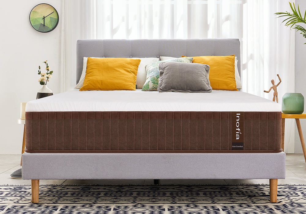 Inofia 11 Inch Euro-top Eco Memory Foam and Innerspring Hybrid Mattress