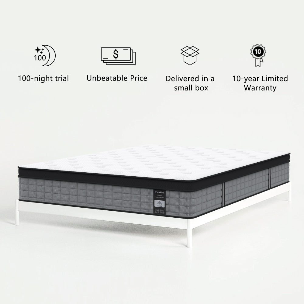 Inofia Hybrid Innerspring Individually Pocket Spring with Comfort Foam Mattress