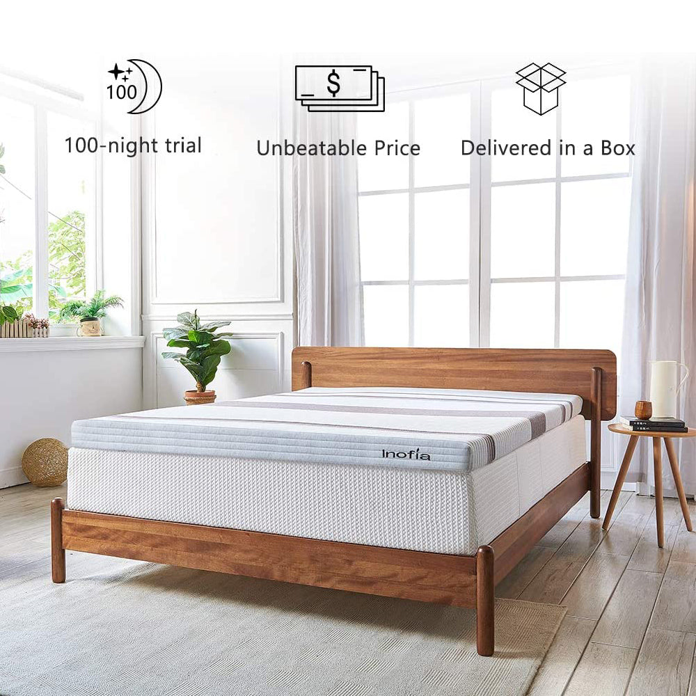 Inofia Mattress Topper 3 Inch Gel Infused Memory Foam Mattress - inofia