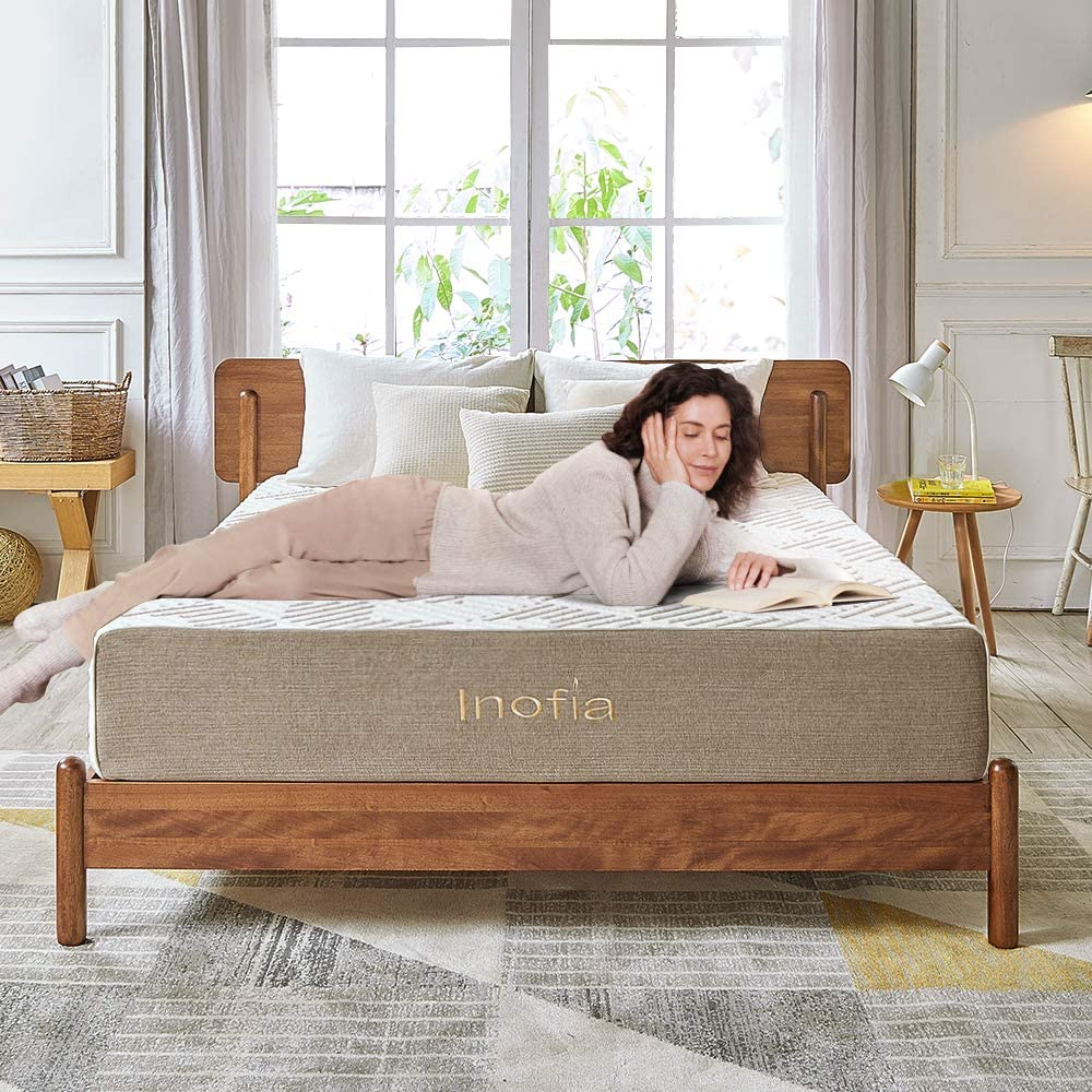 Inofia 11 inch Natural Latex Mattress in a Box - inofia