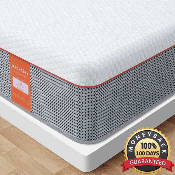 Inofia 10 Inch Gel Memory Foam Hybrid Mattress in a Box