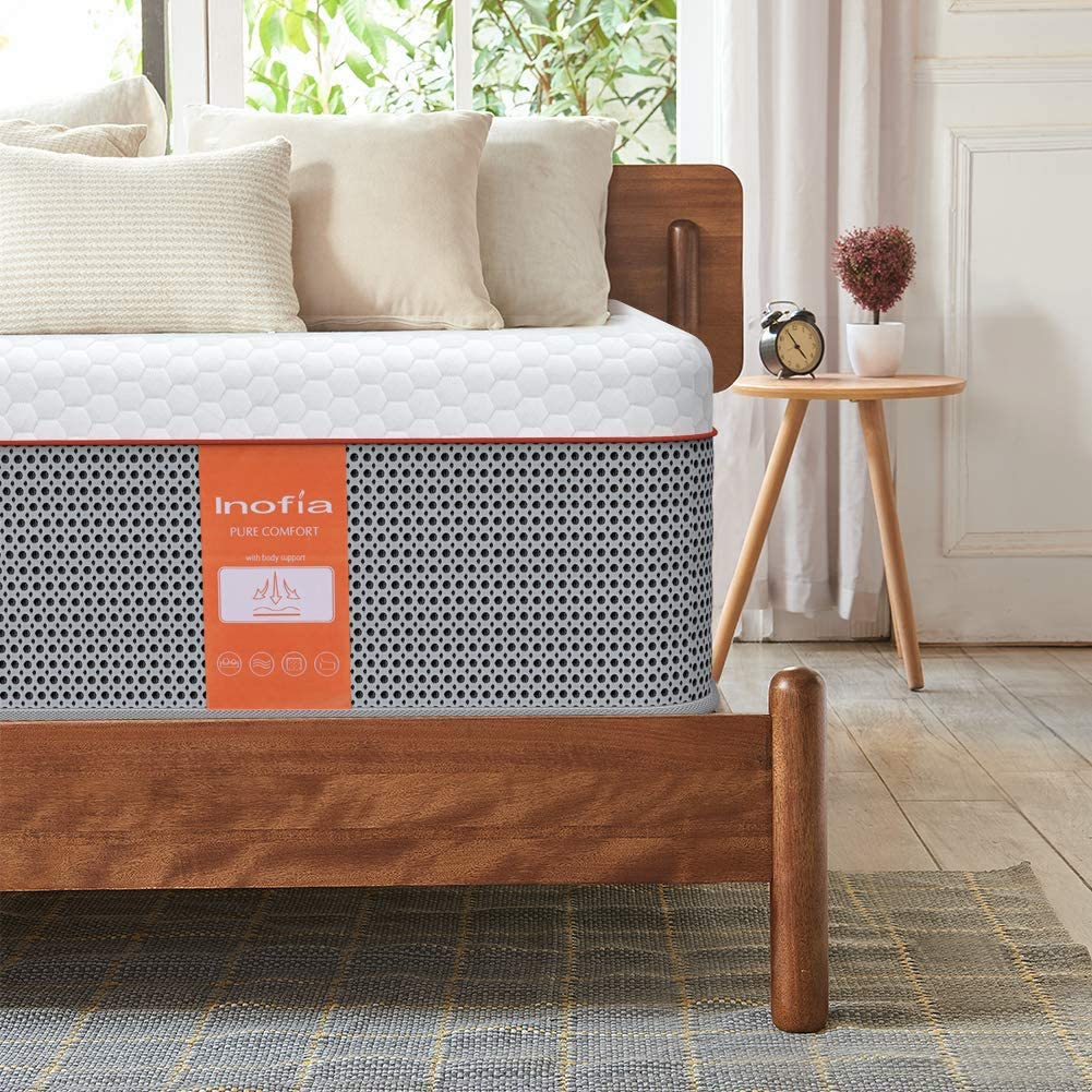 Inofia 10 Inch Gel Memory Foam Hybrid Mattress in a Box - inofia
