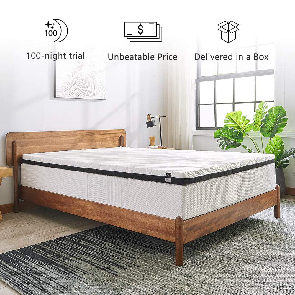 Inofia 3-Inch Gel-Infused Memory Foam Mattress Topper - inofia