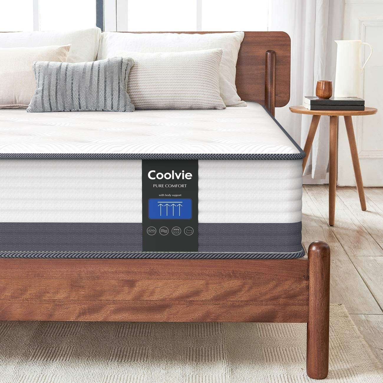 Coolvie 10 Inch Gel Memory Foam Hybrid Mattress - inofia