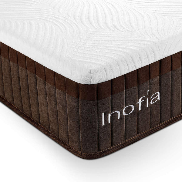 Inofia Full&Twin&Queen&King Size Hybrid Mattress with Memory Foam 11.4 Inches