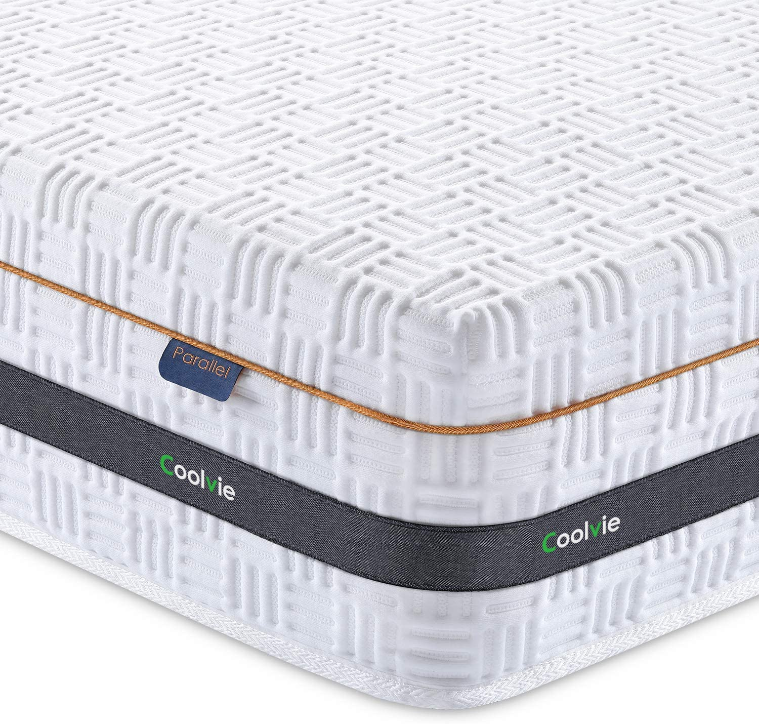 Coolvie 10 Inch Hybrid Memory Foam and Innerspring Single Mattress in a Box - inofia
