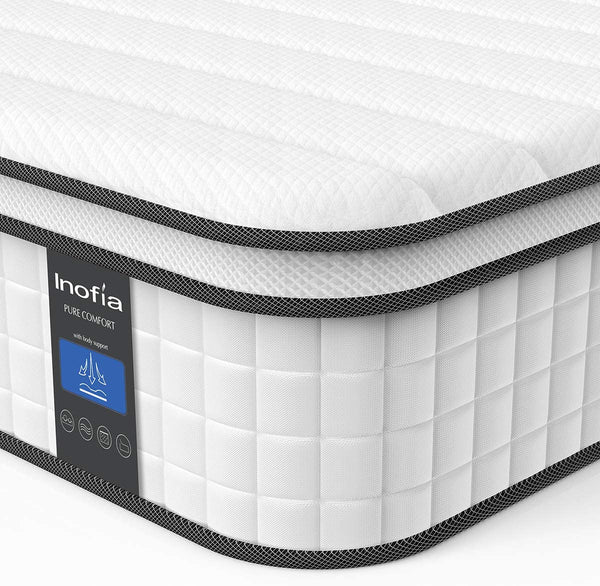 Inofia Mattress 10 Inch Hybrid Innerspring Mattress in Box