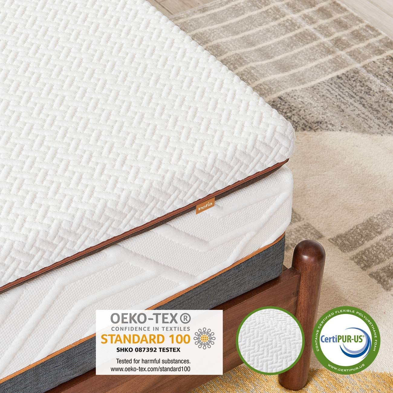Inofia 3 Inch Memory Foam Mattress Topper - INOFIA US
