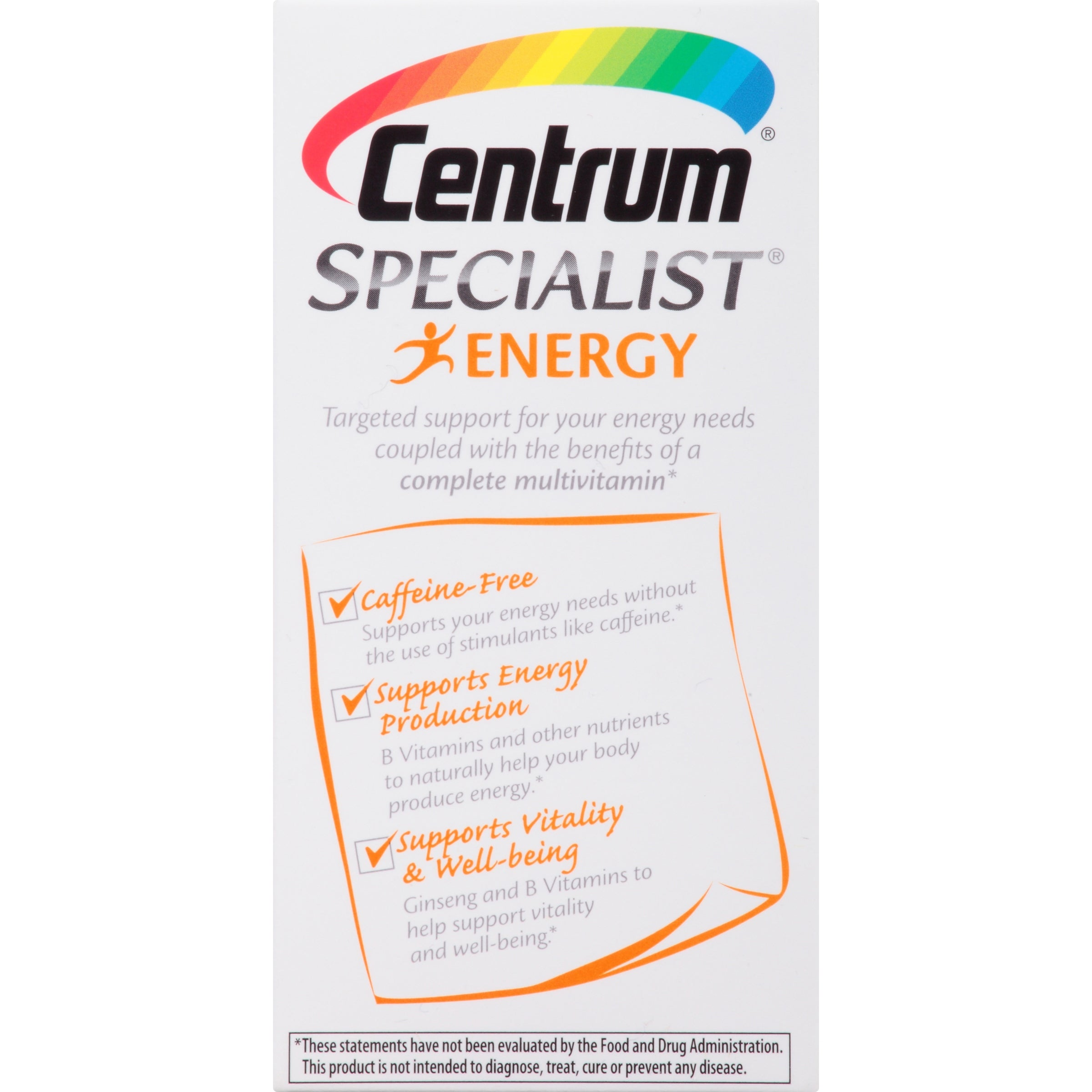 Centrum Specialist Energy Adult 60 Ct Multivitamin Multimineral Supp What Now Brands