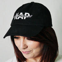 red panda dad hat kap official katakana logo cap black kawaii