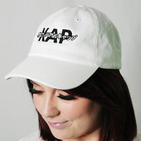 red panda dad hat kap official katakana logo cap white angle