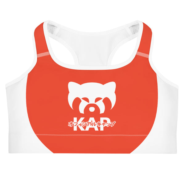 Red and White Not Staff Sports bra