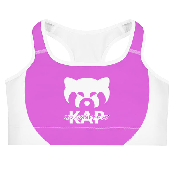 Pink No Staff Sports bra