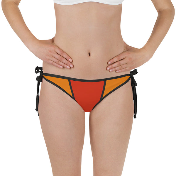Red Orange Bikini Bottom