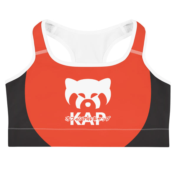 Red and Black Not Staff Sports bra
